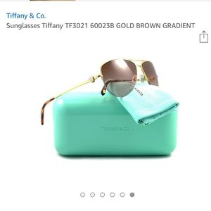 ee513883152 Accessories - Tiffany Sunglasses TF 3021 Gold Brown lenses.💙